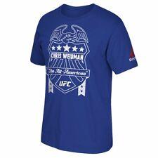 """Chris Weidman UFC Reebok Men's Blue """"The All-American"""" Crest Graphic T-Shirt"""