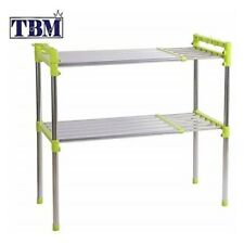 2 Tier Adjustable Multi-functional Shelf/Expandable Stainless Steel - TBM