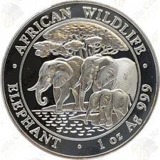 2013 Somalia Silver Elephant -- 1 oz .999 fine silver -- SKU #22913