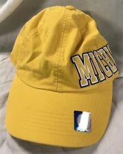 NWT yellow Michigan University Victoria Secret PINK brand adjustable hat cap
