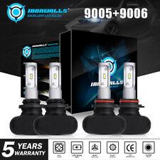 9005+9006 LED Headlight Hi/Lo Beam Kit for Chevy Silverado1500 2500 HD 2001-2006