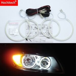 for BMW 3 Series E90 2005-08 Ultra bright SMD white LED angel eyes halo ring kit