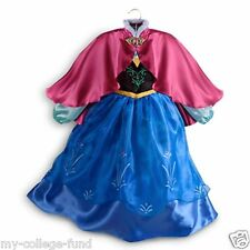AUTHENTIC DISNEY STORE FROZEN ANNA COSTUME 5/6 DRESS NEW