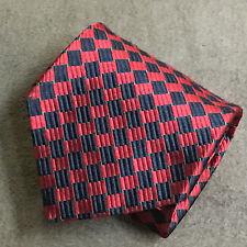 Burberry of London - New York - Paris Men's Silk Necktie Red Power Tie - England