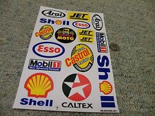 Decals / stickers R/C radio controlled Arai shell Esso Mobil Castrol Jet   E66