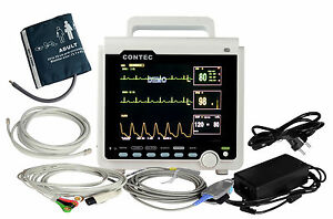 8.4 inch Multiparameter Vital Signs ICU Patient Monitor ECG NIBP SPO2 PR CMS6000
