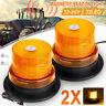 2pz 32 Led Magnetico Lampeggiante 12-24V Ambra Faro Luce Emergenza Strobo  /