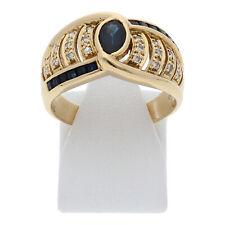 Diamant Saphir Ring 750 Gold Größe 57 18 Karat Damen Brillant Schmuck R04.2547
