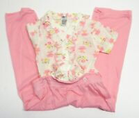 Vintage 80s Pink Mesh Knit Outfit 4T Kmart Deadstock NOS Floral Pants Top Set