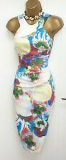 Karen Millen Raro Abstracto llamativa ocasión especial Wiggle Dress Reino Unido 8