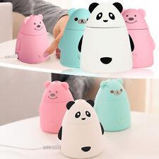 Elektrische Panda LED Luftbefeuchter Aroma Diffuser Raumduft Aromatherapie Pink