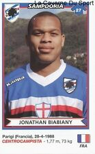 JONATHAN BIABIANY FRANCE SAMPDORIA RARE UPDATE STICKER CALCIATORI 2011 PANINI