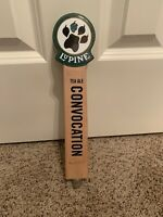 """LUPINE BREWING 12"""" Beer Tap Handle Tea Ale Convocation Brewery Man Cave"""