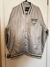 Official NBA Chicago  Bulls Size LG/ XL  Polyester Gray Jacket JH Design