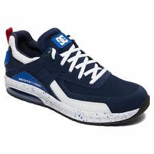 DC Shoes Homme Vandium Soi Bas Haut Chaussures Baskets Bleu Marine Blanc Skate