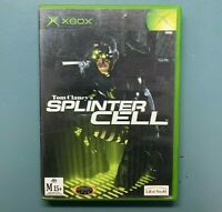 Tom Clancy's Splinter Cell Original Xbox Game with Manual - Free Postage PAL