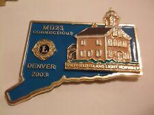 CR62) 2002 Connecticut MD23 Sheffield Island Light Norwalk Large Lions Club Pin