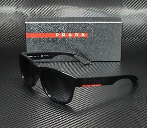 PRADA LINEA ROSSA PS 03QS 1AB5W1 Black Polarized Gray 57 mm Men's Sunglasses