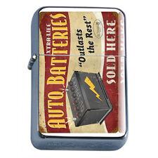 Vintage Poster D250 Flip Top Oil Lighter Wind Resistant Auto Batteries Outlast