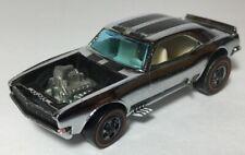 Vintage 1969 Hot Wheels Heavy Chevy Camaro Redline Membership Club Silver Chrome
