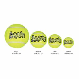 KONG SqueakAir Tennis Balls Squeaky Dog Toy Fetch-Extra Small Small Medium