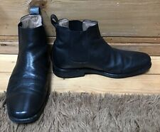 marks and spencer Black Grained Leather Chelsea Boots Airflex Sole Size 7