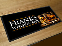 Personalised with your name Whiskey Glasses bar runner Pubs & Cocktail Bars