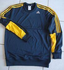 Sweat bleu marine/jaune Adidas   Taille M