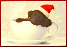 """Merry Christmas With Love"" Labrador Puppy in Teacup CHRISTMAS CARD PAPYRUS"