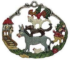 Bremen Town Musicians German Pewter Christmas Ornament Decoration Fairy Tale