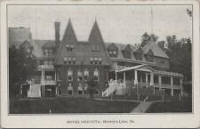 Postcard Hotel Oneonta Harvey's Lake PA