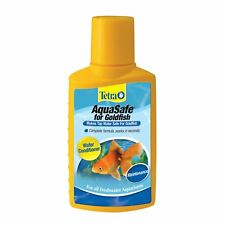 TETRA AQUASAFE GOLDFISH 3.38 OZ WATER CONDITIONER. FREE SHIPPING TO THE USA