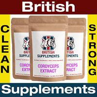 Cordyceps Militaris Mushroom Extract 6,945mg Veg Capsules British Supplements UK