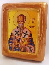 Saint Achillios Achillius Achilles Bishop of Larissa Orthodox Church Icon Art
