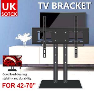 TV Stand Bracket Desk Top Monitor Table Mount VESA For 42-70 inch TV Universal