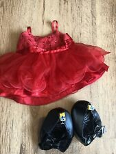 Build A Bear Clothes Red Party Dress And High Heeled Shoes