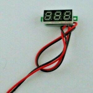 mini LED Voltmeter, Spannungsmesser, 2,5 - 30 Volt, farbig, Lieferung aus DE