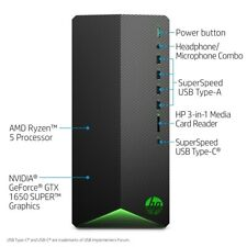 HP Pavilion Tg01-0023w 256GB SSD, AMD Ryzen 5 3500, Nvidia 1650 SUPER
