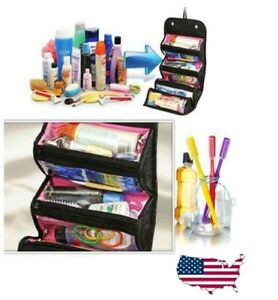 Travel Cosmetic Makeup Bag Toiletry Hanging Zip Organizer Storage Case Pouch US