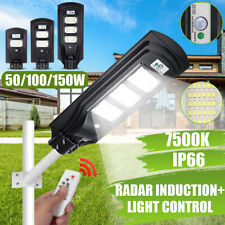 25000LM 150W LED Solar Street Light Motion Sensor Outdoor Garden Wall Lamp