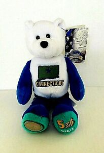Limited Treasures Connecticut 5th State Coin Bear Plush Stuffed Animal