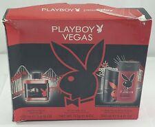 Playboy Vegas Gift Set After Shave 3.4oz Body Spray 4oz Shower Gel Shampoo 8.4oz