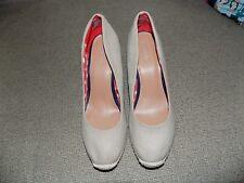 Merona Beige Canvas Sisal Wedge Shoes Size 9 Women's EUC