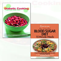 Essential Blood Sugar Diet and Diabetic Cooking 2 Books Collection Set Pack NEW