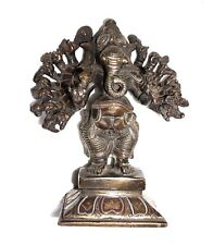 A Lovely Unique Lovely Statue Elephant Ganesha Buddha SILVER - COPPER ARTWORK
