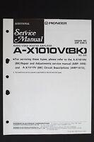 Pioneer a-x1010v (BK) ORIGINAL AV Maestro AMPLIFICADOR adicional Manual de
