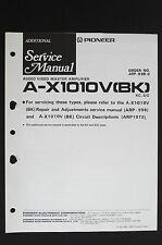 PIONEER A-X1010V(BK) Original AV Master Amplifier ADDITIONAL Service-Manual o115