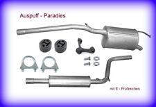 Abgasanlage Auspuff VW Caddy III 2K 1.4 (75 & 80PS) Hochdachkombi & Kasten + Kit