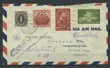 Curacao Luftpost-Brief nach Hamburg, 1949