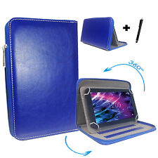 360° 10 zoll Tablet Tasche Hülle - Asus Transformer Pad TF700 - Zipper Blau 10